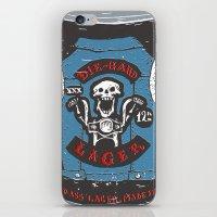die hard iPhone & iPod Skins featuring Die Hard Lager by Moto