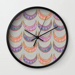 Tribal Half Moon Pattern Wall Clock