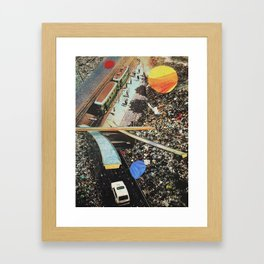 from nowhere to nowhere 2 Framed Art Print