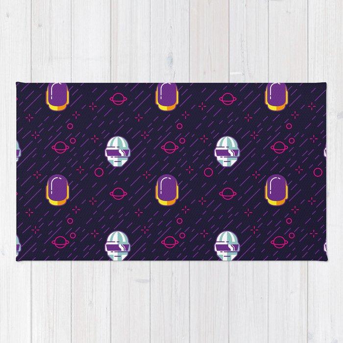 Daft Punk Pattern Rug