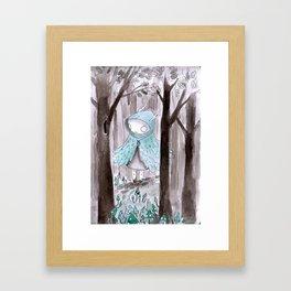 Wild girl Framed Art Print