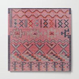 V21 New Traditional Moroccan Design Carpet Mock up. Metal Print