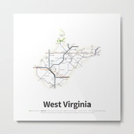 Highways of the USA – West Virginia Metal Print