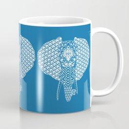 Blue Elephant Head Coffee Mug