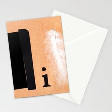 Shades of black Stationery Cards