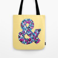 ampersand Tote Bags featuring Ampersand by Mister Phil