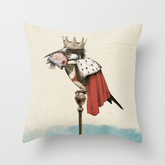 King Fisher Throw Pillow