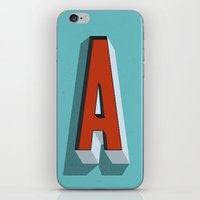 letter iPhone & iPod Skins featuring Letter A by INDUR