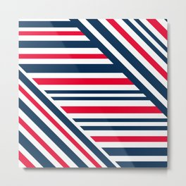 Geometric pattern. Striped triangles 1 Metal Print