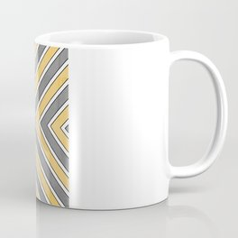 Stripes in Grey and Yellow-bold Coffee Mug