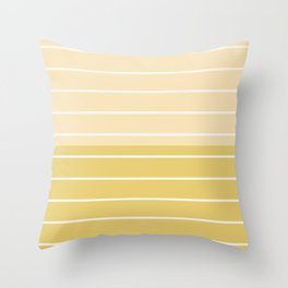 Two Tone Stripes - Yellow Throw Pillow
