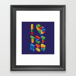 I Heart Tetris Framed Art Print
