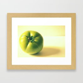 Green Star Framed Art Print
