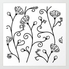 Ipomoea White Art Print