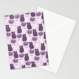 Halloween Marshmallows Soft Purple Stationery Cards