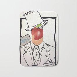 Bitten Apple Face Bath Mat
