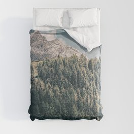 mountains trees commune predoi italy Comforters