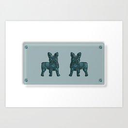 Patches French Bulldog Twins Art Print