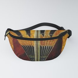 art deco wood Fanny Pack