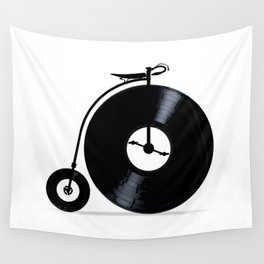 Penny Farthing With Vinyl Records Wall Tapestry