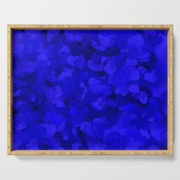 Rich Cobalt Blue Abstract Serving Tray