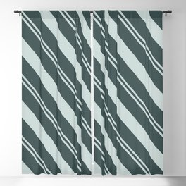 Cave Pearl Light Mint Green PPG1145-3 Thick and Thin Angled Stripes on Night Watch PPG1145-7 Blackout Curtain