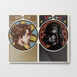 Art Nouveau Anakin/Vader Metal Print