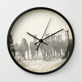 Band of Horses - White Wall Clock