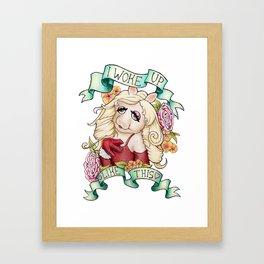 Miss Piggy - I woke up like this Framed Art Print