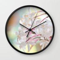 jasmine Wall Clocks featuring Jasmine by 8am Photography