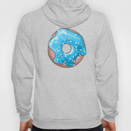 Blue Donut on Yellow Background Hoody