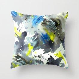 Pushing Paint Again Throw Pillow