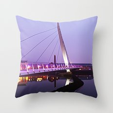 The Swansea Sail Bridge. Throw Pillow