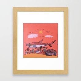 Galopagos Shark & Friends Framed Art Print