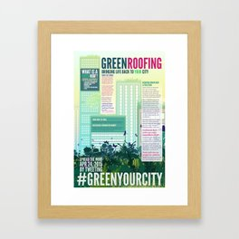 Green Roof Info Poster Framed Art Print