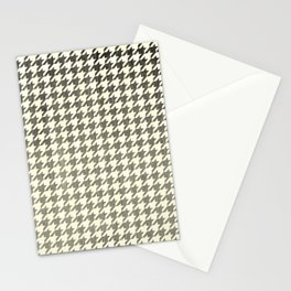 Hand Drawn Houndstooth Stationery Cards