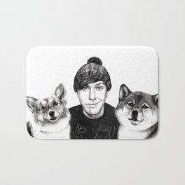 Phil w/ dogs Bath Mat
