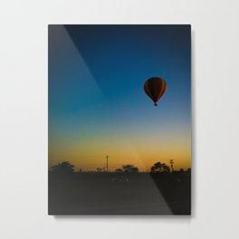Blue, yellow and balloon  Metal Print