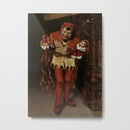 """""""The Court Jester Keying Up"""" by William Merritt Chase Metal Print"""