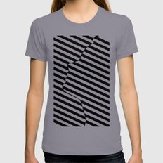 Side face Slate Womens Fitted Tee SMALL