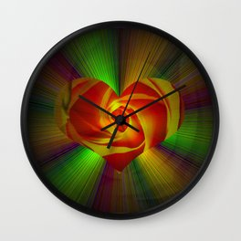 Abstract in perfection - Rose Wall Clock