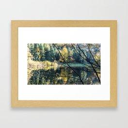 French lake in autumn Framed Art Print