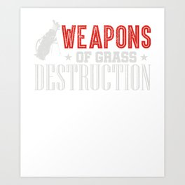 Weapons Of Grass Destruction funny Golf T-Shirt Art Print