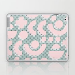 Memphis Pattern - Gemetrical  Retro Art in Pink and Mint -  Mix & Match With Simplicity Of Life Laptop & iPad Skin
