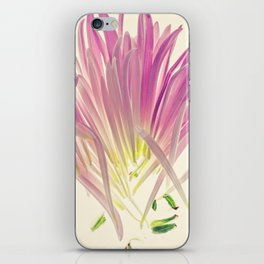 Love me, Dhalia - Botanical Print iPhone Skin