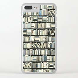 Bookshelf Library Clear iPhone Case