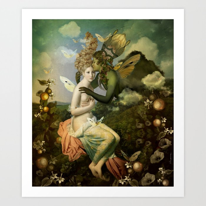 """The body, the soul and the garden of love"" Art Print"