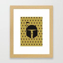 Boba Fett Pattern Framed Art Print