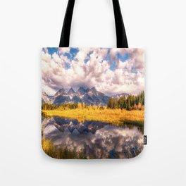 The Grand Tetons Range Reflection Tote Bag