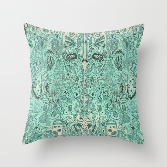 Histological section of my inner world (#4) Throw Pillow